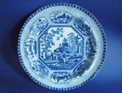 Early Staffordshire Pearlware 'Octagonal Chinoiserie' Pattern Dinner Plate c1810 #1